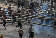 News24.com | Myanmar police fire rubber bullets to disperse protesters in Yangon