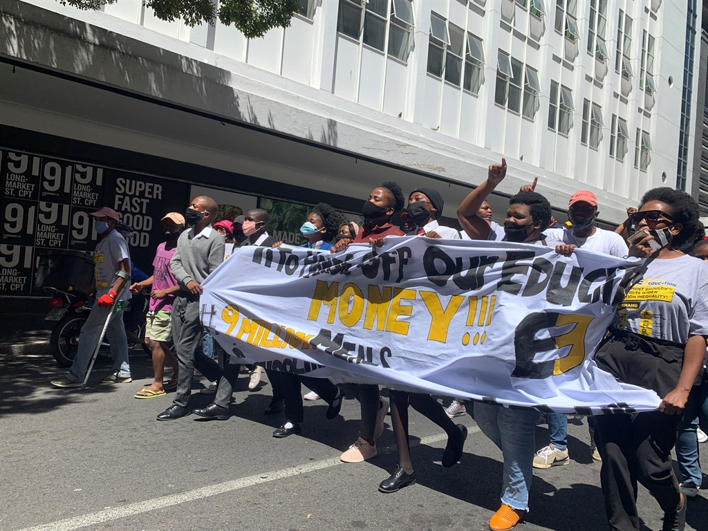 News24.com | Equal Education protests outside Parliament as Mboweni delivers budget speech
