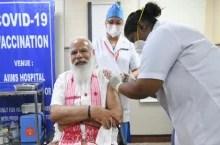 कोरोना टीकाकरण का दूसरा फेजः टीका लगवा PM ने किया आगाज, बिहार और ओडिशा CM ने भी लगवाई वैक्सीन