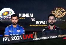 MI – 2/0 (0.2), VIVO IPL 2021 MI vs RCB Live Score Streaming: रोहित शर्मा ने खोला अपना और टीम का खाता; Star Sports और Hotstar पर ऐसे देखें मैच