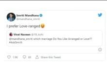 Love or arrange marriage? 'National crush' Smriti Mandhana breaks her silence