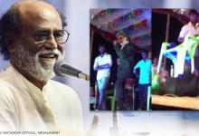 WATCH: Rajinikanths lookalike fails miserably as he attempts to pull off a stunt on stage