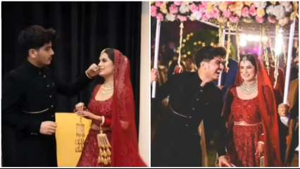 Viral! Bride wears lehanga inspired by Priyanka Chopra's wedding attire, shares adorable moments with brother on big day