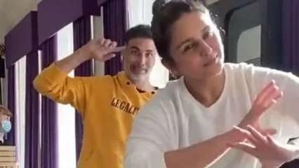 Watch: Akshay Kumar shares hilarious video of Huma Qureshi performing Bhangra, calls her 'total nutcase', actress react