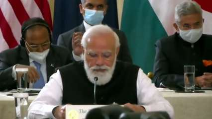 PM Modi addresses Quad summit, says it will work as force for global good
