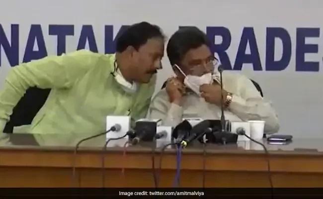 कर्नाटक के दो कांग्रेस नेताओं की राज्य पार्टी प्रमुख के कथित भ्रष्टाचार पर बातचीत का VIDEO वायरल
