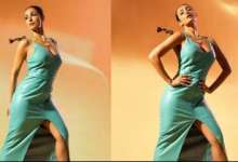Malaika Arora stuns fans with her bold and sexy look in a teal leather dress, see viral photos