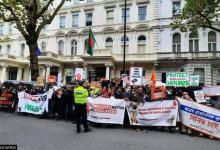 ISKCON devotees protest in front of Bangladesh High Commission in seek govt action