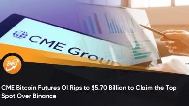 बिनेंस पर शीर्ष स्थान का दावा करने के लिए सीएमई बिटकॉइन फ्यूचर्स ओआई $ 5.70 बिलियन तक गिर गया