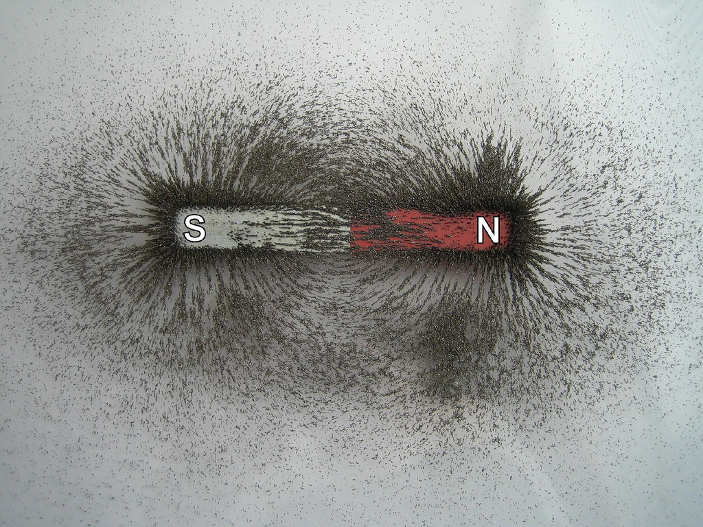 magnet iron filings