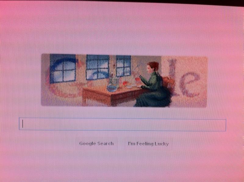 Marie Curie Doodle