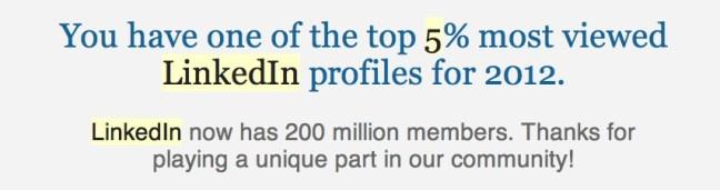 LinkedIn 5%
