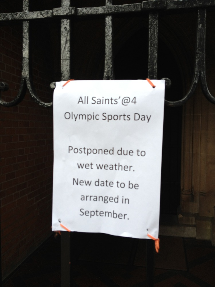 Olympics Event Cancelled