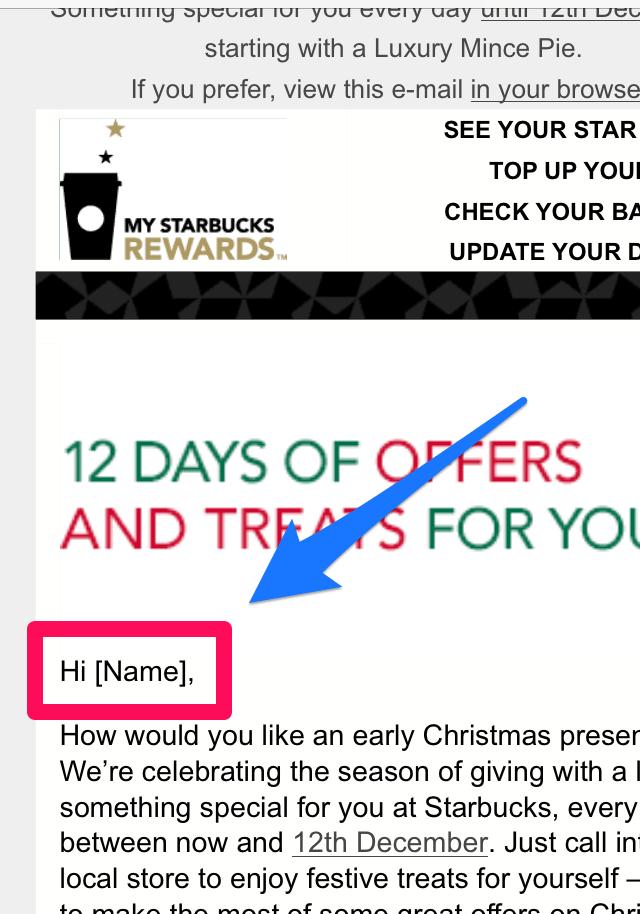 Starbucks Missing Name