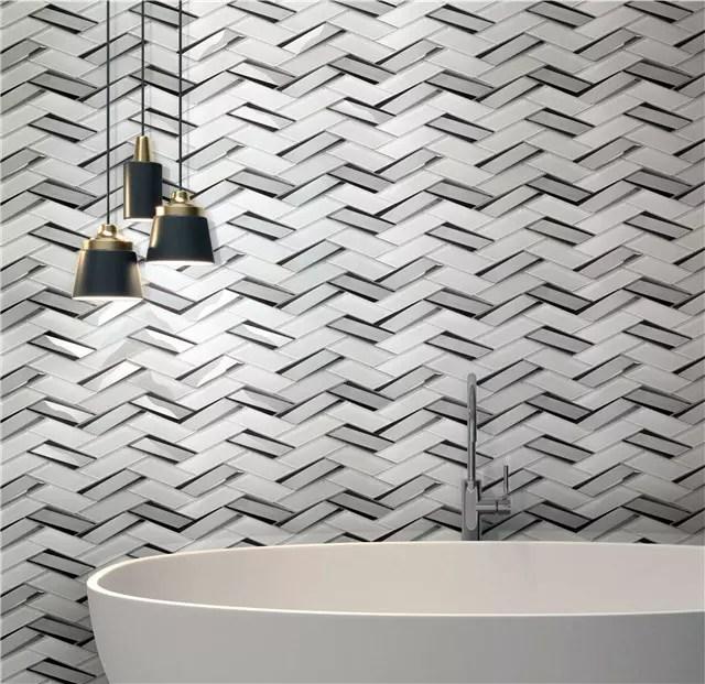 china herringbone mosaic tile