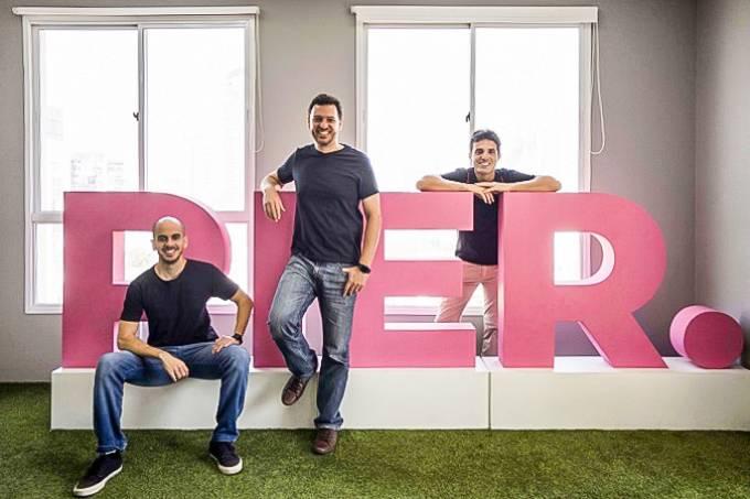 Rafael Oliveira, Igor Mascarenhas e Lucas Prado, fundadores da Pier / Foto: Andre Porto/Assessoria Pier