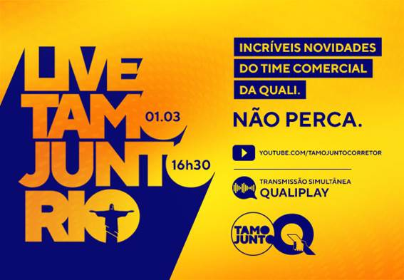 Qualicorp promove live para anunciar aos corretores novidades no Rio de Janeiro