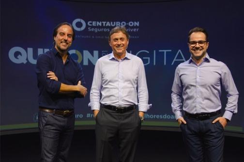 Marcio Magnaboshi, diretor Comercial; Ricardo Teixeira, CEO; e Thiago Espindola, Head de Marketing e Novos Negócios da Centauro-ON / Divulgação