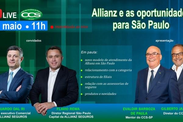 CCS-SP promoverá live com a Allianz para falar sobre oportunidades para os corretores / Divulgação