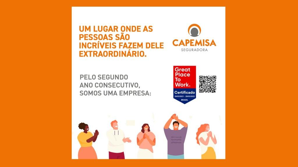 Capemisa Seguradora investe no bem-estar de colaboradores e conquista GPTW pelo 2º ano consecutivo / Divulgação