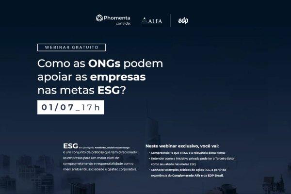 Conglomerado Alfa participa de webinar sobre metas de ESG nas empresas / Reprodução