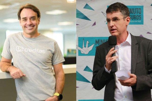 Sergio Furio, fundador da Creditas; e Marcelo Blay, fundador da Minuto Seguros / Reprodução