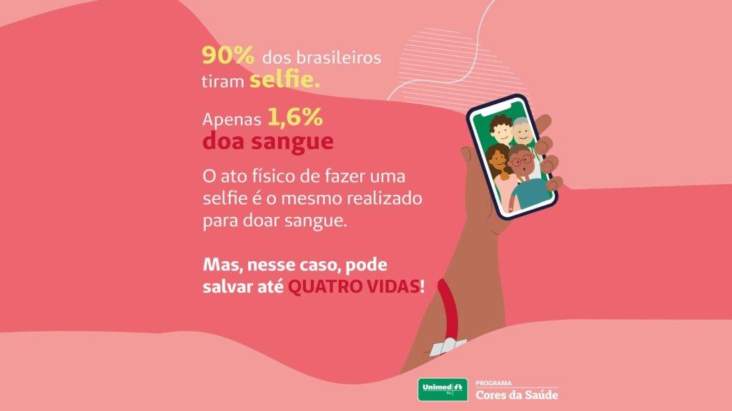 """Campanha """"Selfie que Salva"""" ajudou bancos de sangue a recolher mais de 12 mil bolsas no Rio de Janeiro / Divulgação"""
