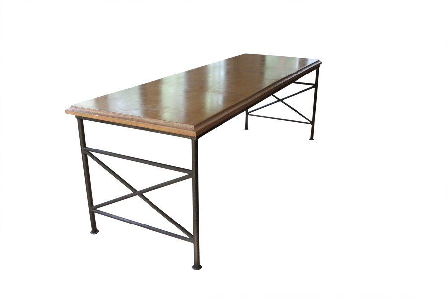 Custom Concrete and Iron Table