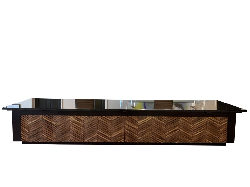 Front View Reception Desk with Absolute Granite Top