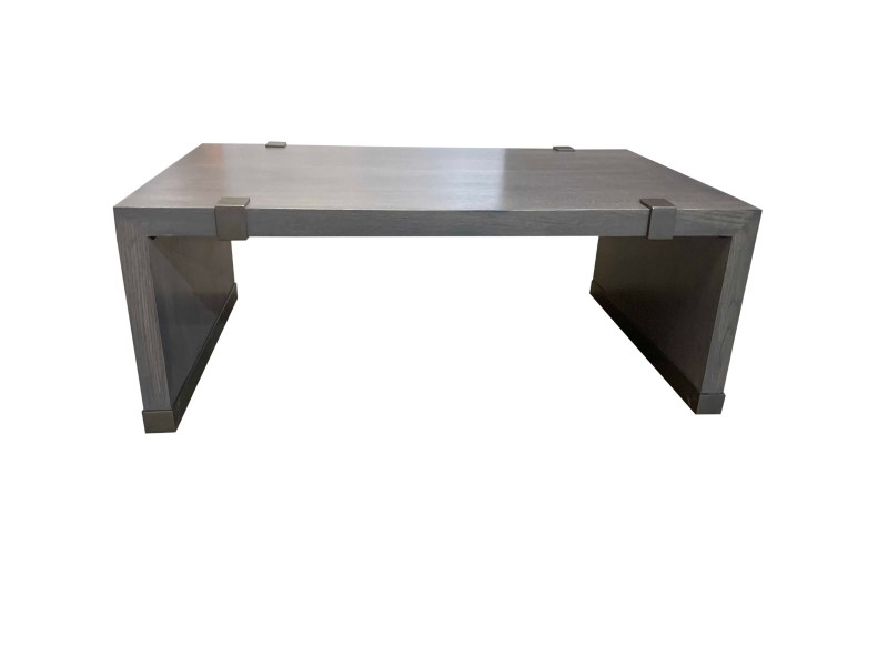 Rift Oak Coffee Table with Iron Accents - Copy