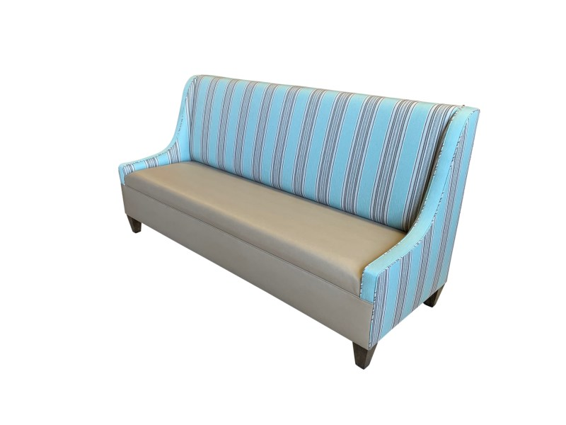 Sloped Arm Custom Banquette Side View