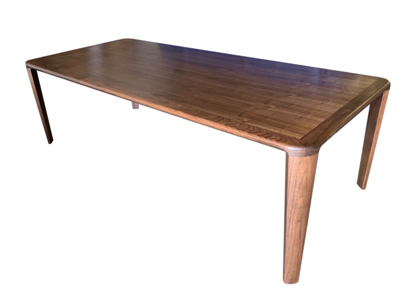 Walnut Dining Table with Beveled Leg