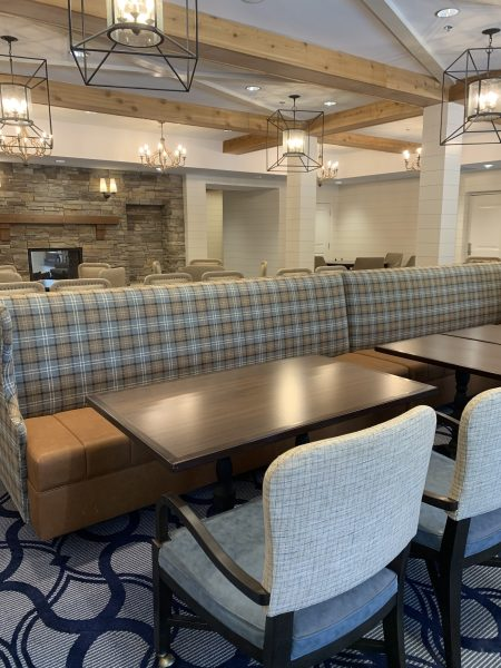 Interiors by Banko Designs - Double Sided Banquette through JRW Custom