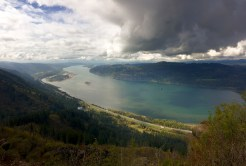 The Columbia River separates Oregon and Washington near Portland.