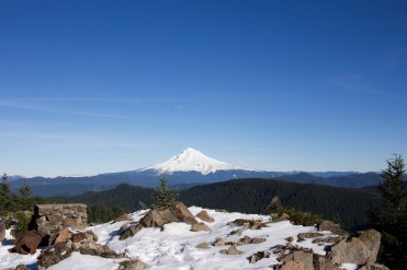 Mount Hood, as seen from the summit of 4,700-foot Tumala Mountain.