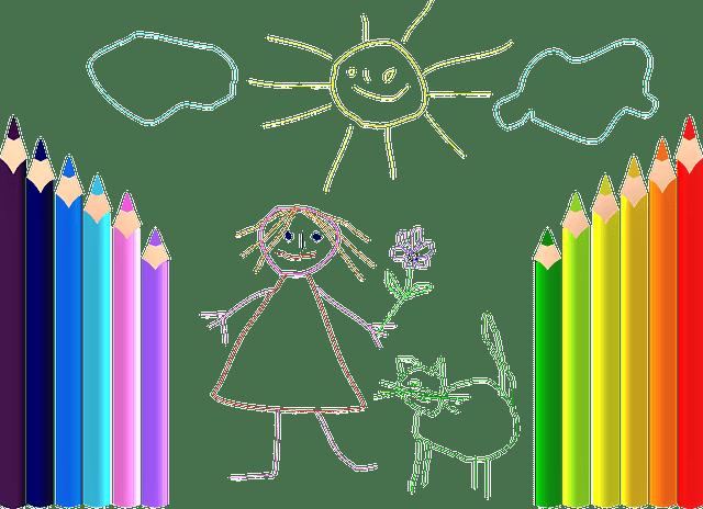 夏休みの絵の宿題