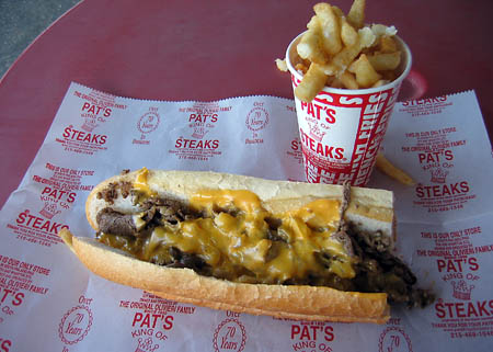 An authentic Philly Cheesesteak.  Fresh Prince of Bel Air not included.
