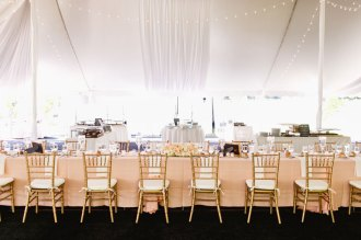 head table at a wedding reception