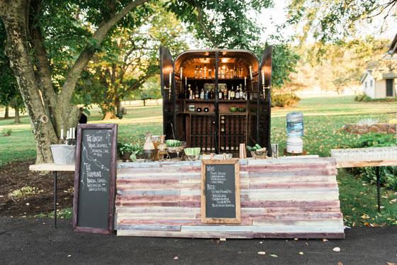 Outdoor Rustic Wooden Bar