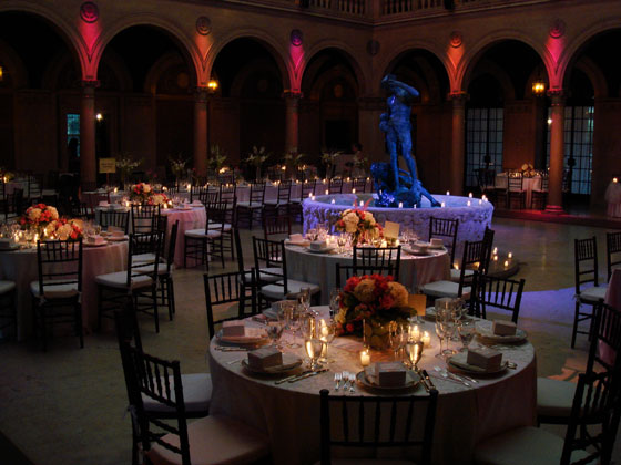 The Patio at Archmere Academy Wedding