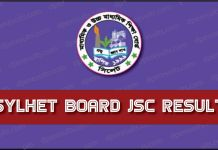 JSC Exam Result Sylhet Board