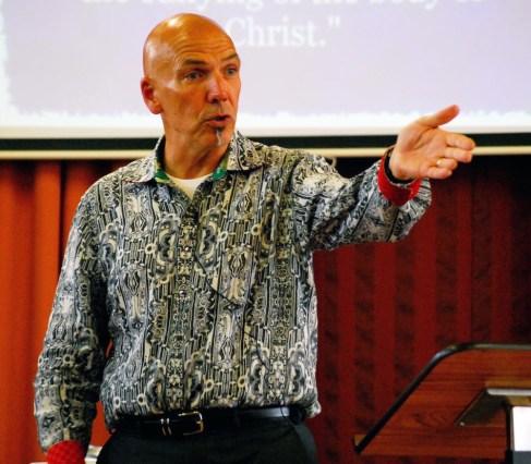 John ministering at Glen Aros Church