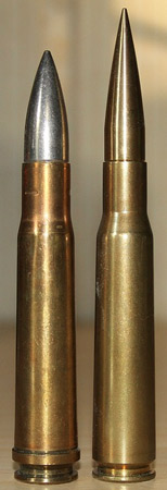 two large bullets