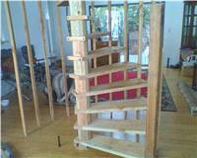Diy Wood Spiral Stairs Built From Plans   Building A Spiral Staircase Wood   Attic Stairs   Staircase Ideas   Outdoor Spiral   Curved Staircase Design   Attic Ladder
