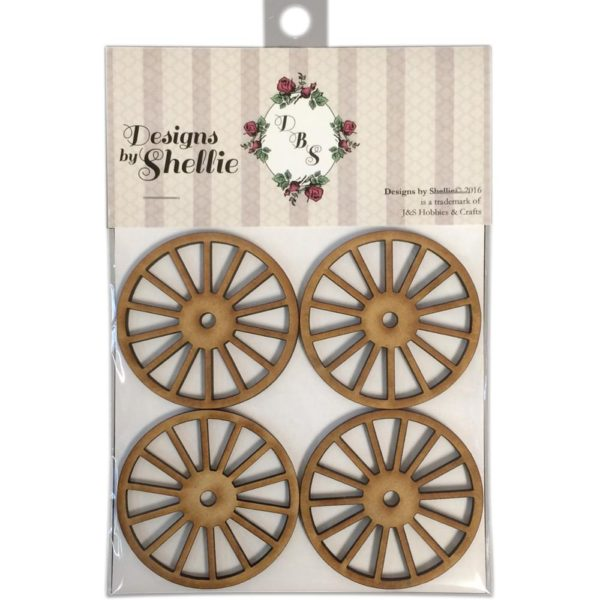 Designs by Shellie Wooden Wagon Wheels