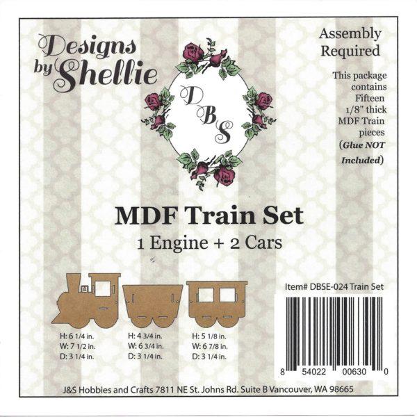 Designs by Shellie Train Set MDF Kit