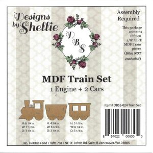 Designs by Shellie Train Set MDF Kit