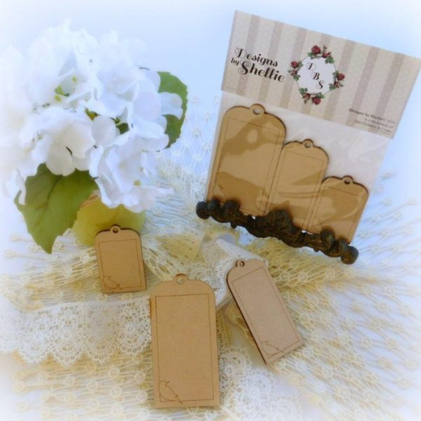 Designs by Shellie Laser Wood Bird Tags 2
