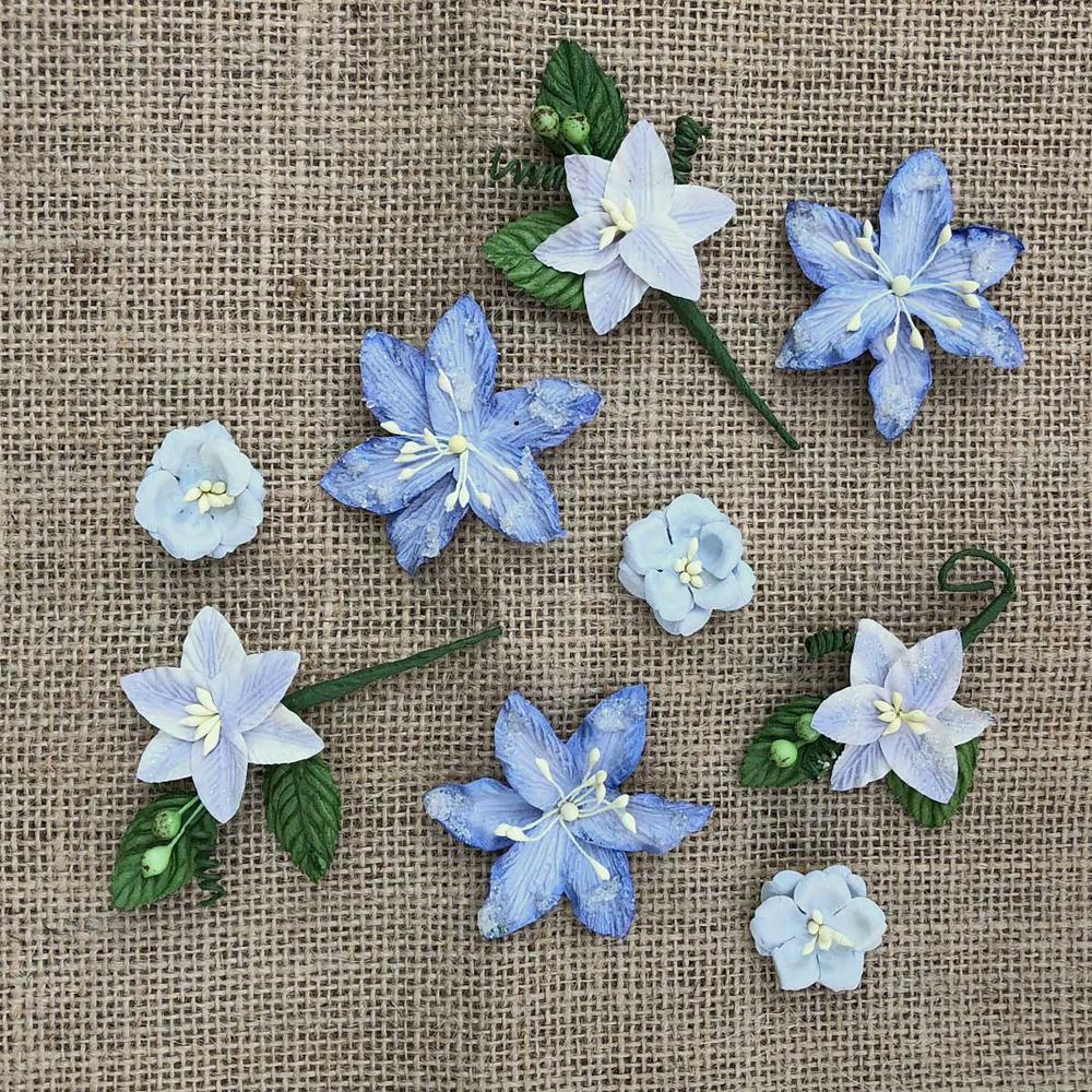 49 Market Stargazers Paper Flowers Periwinkle Scrapbooking And