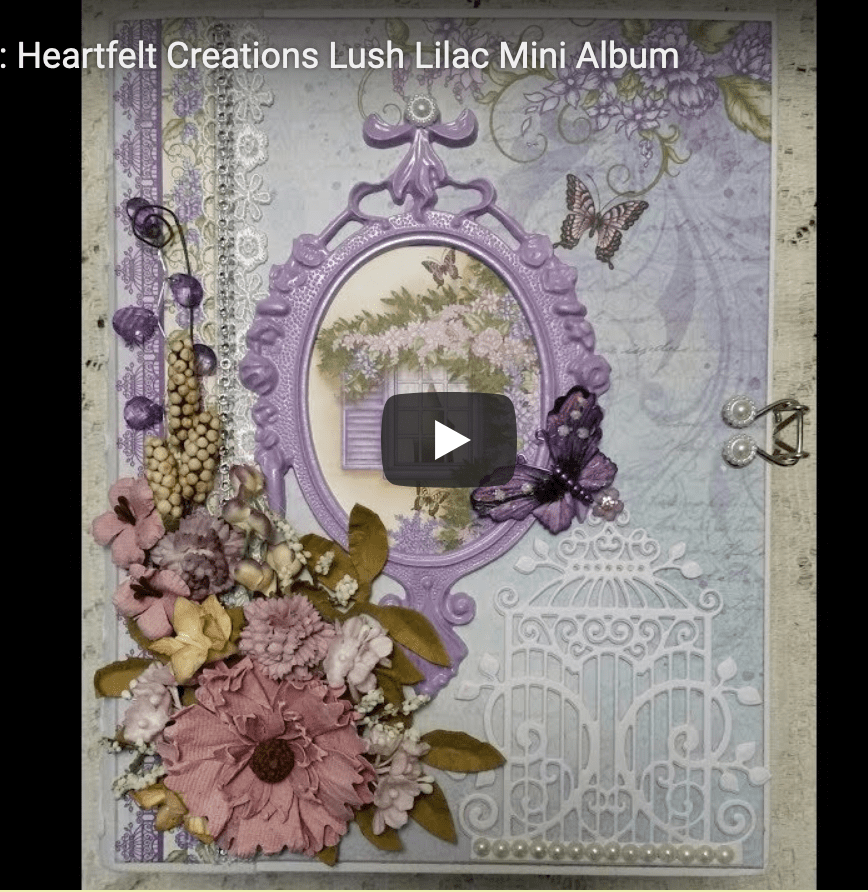 Heartfelt Creations Lush Lilac Mini Album